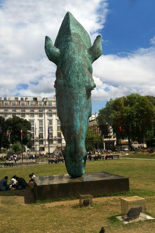 Socha koňa pri Marble Arch - Londýn