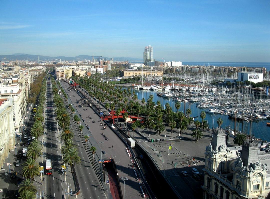 Barcelona z výšky