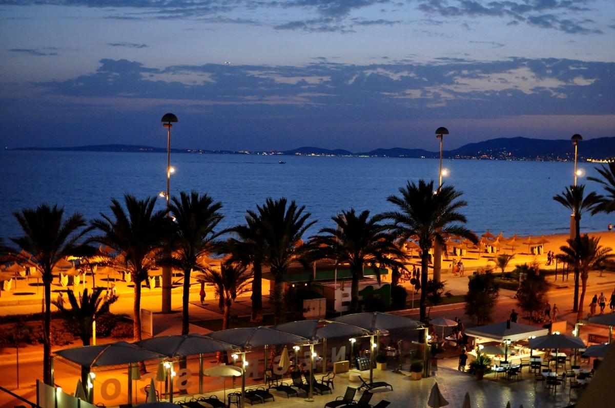 Malorka - Playa de Palma večer