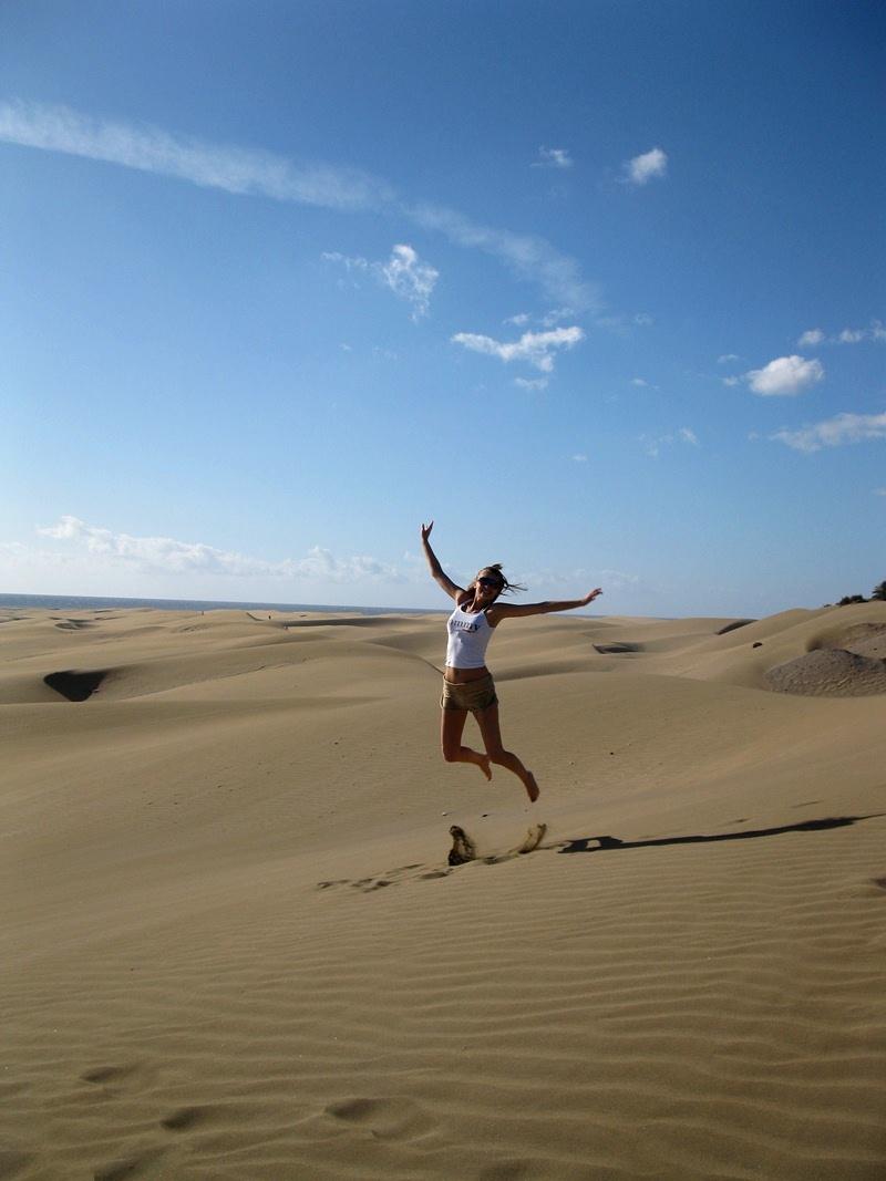 skákanie po dunách