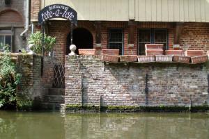 Reštaurácia na rieke v Gente