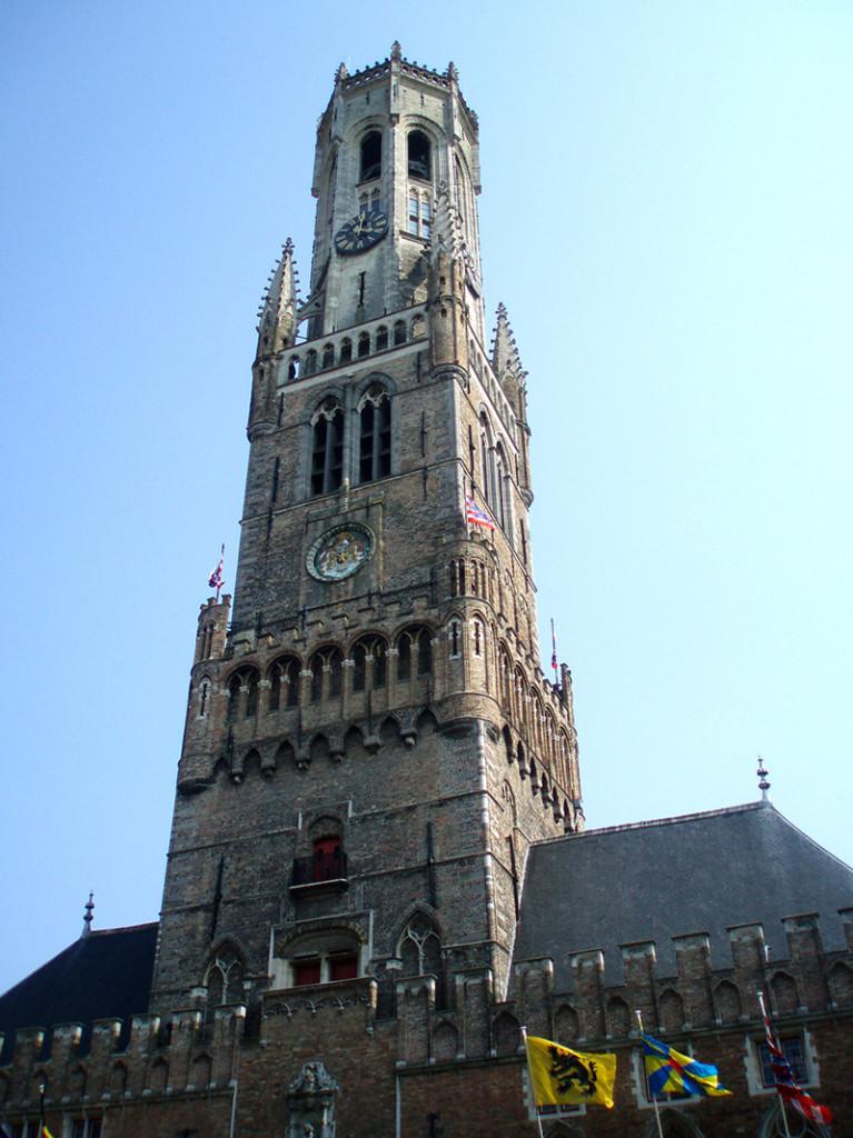 Veža Belfried na námestí Grote Markt - Bruggy