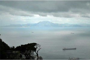 Výhľad na Afriku z Gibraltaru