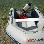 Nafukovací motorový čln