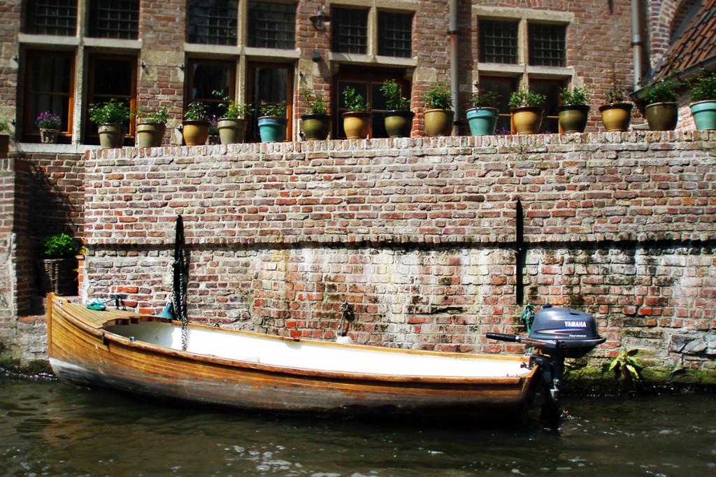 Gent - záhradka na kanáloch