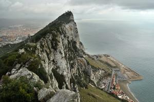 Výhlad na Gibraltar z lanovky
