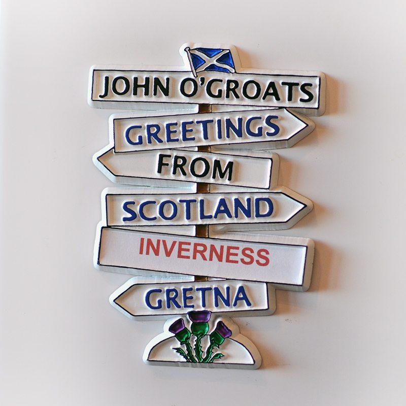 Magnetka z Inverness, Škótsko