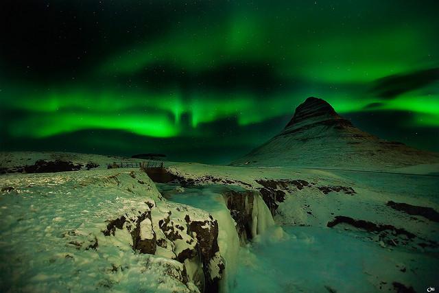 Island polárna žiara