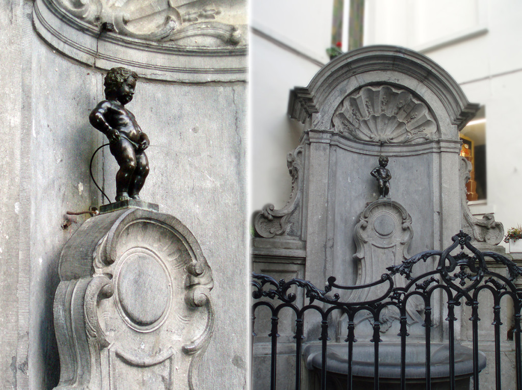 Brusel - socha Manneken Pis
