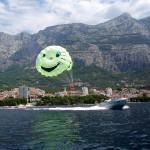 Chorvátsko parašutisti na lodi