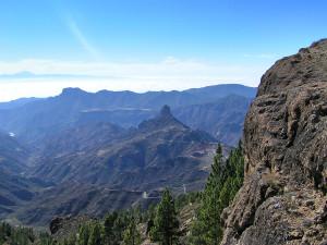 Výhľad z Roque Nublo na Tenerife