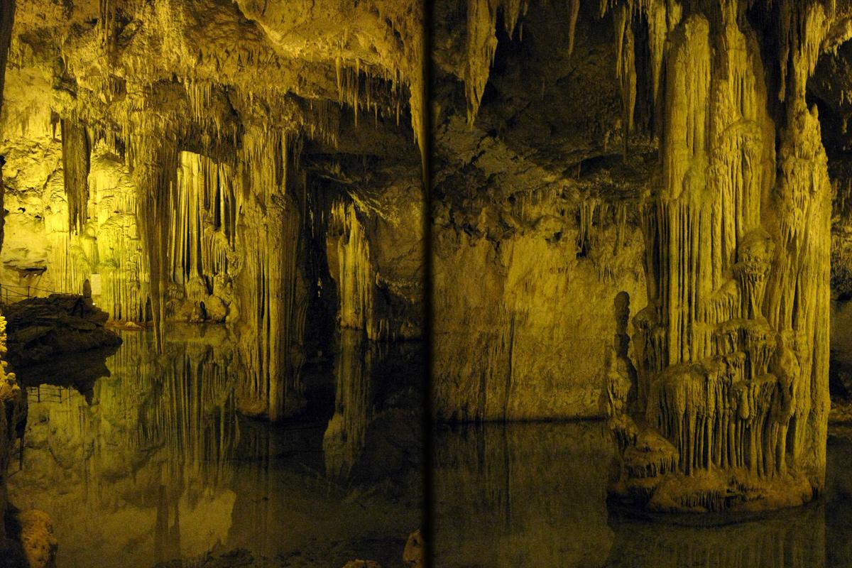 slatagnity a stalagnáty, Neptúnová jaskyňa