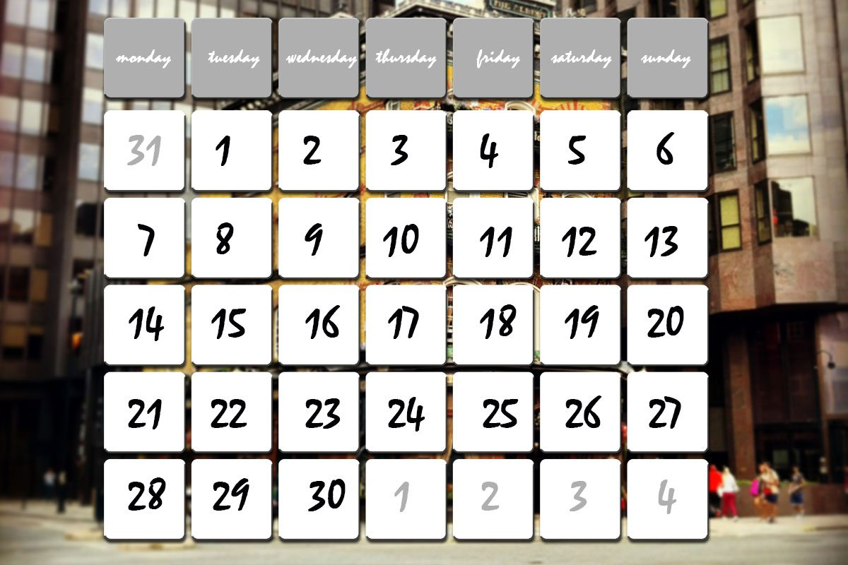 dni a mesiace po anglicky