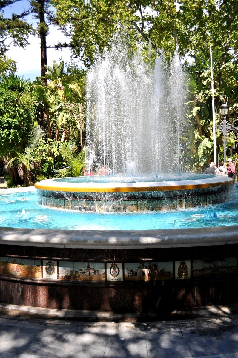 fontána, park La Alameda