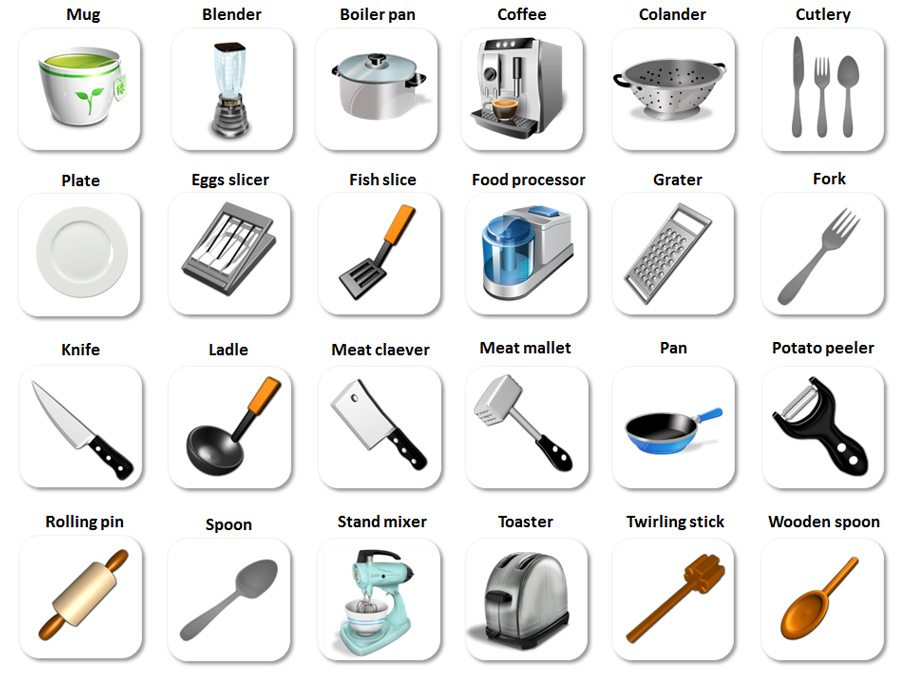 Kitchen Tools Name kitchen utensils names in english - magiel