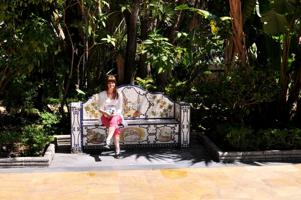 lavička v parku Alameda, Marbella