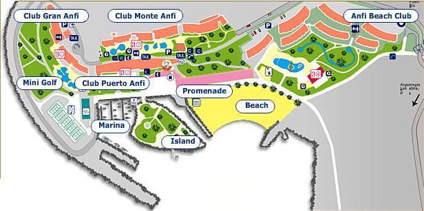 mapa rezortu Anfi