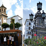 Námestie v algeciras a kostol De la palma