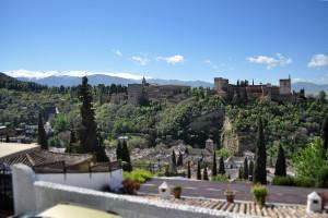 Výhľad Alhambra a Sierra Nevada