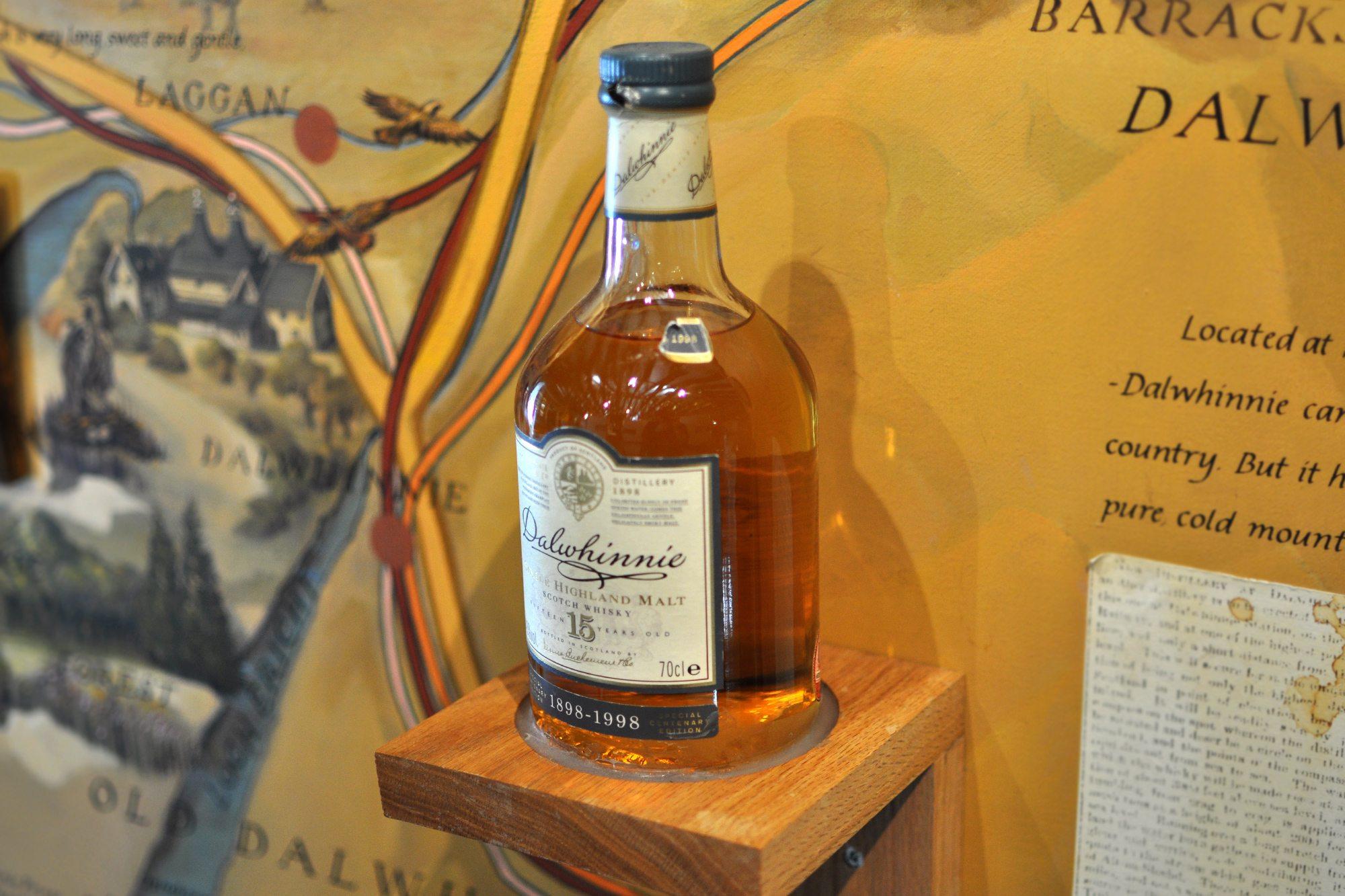 dalwhinnie whisky - single malt 15y