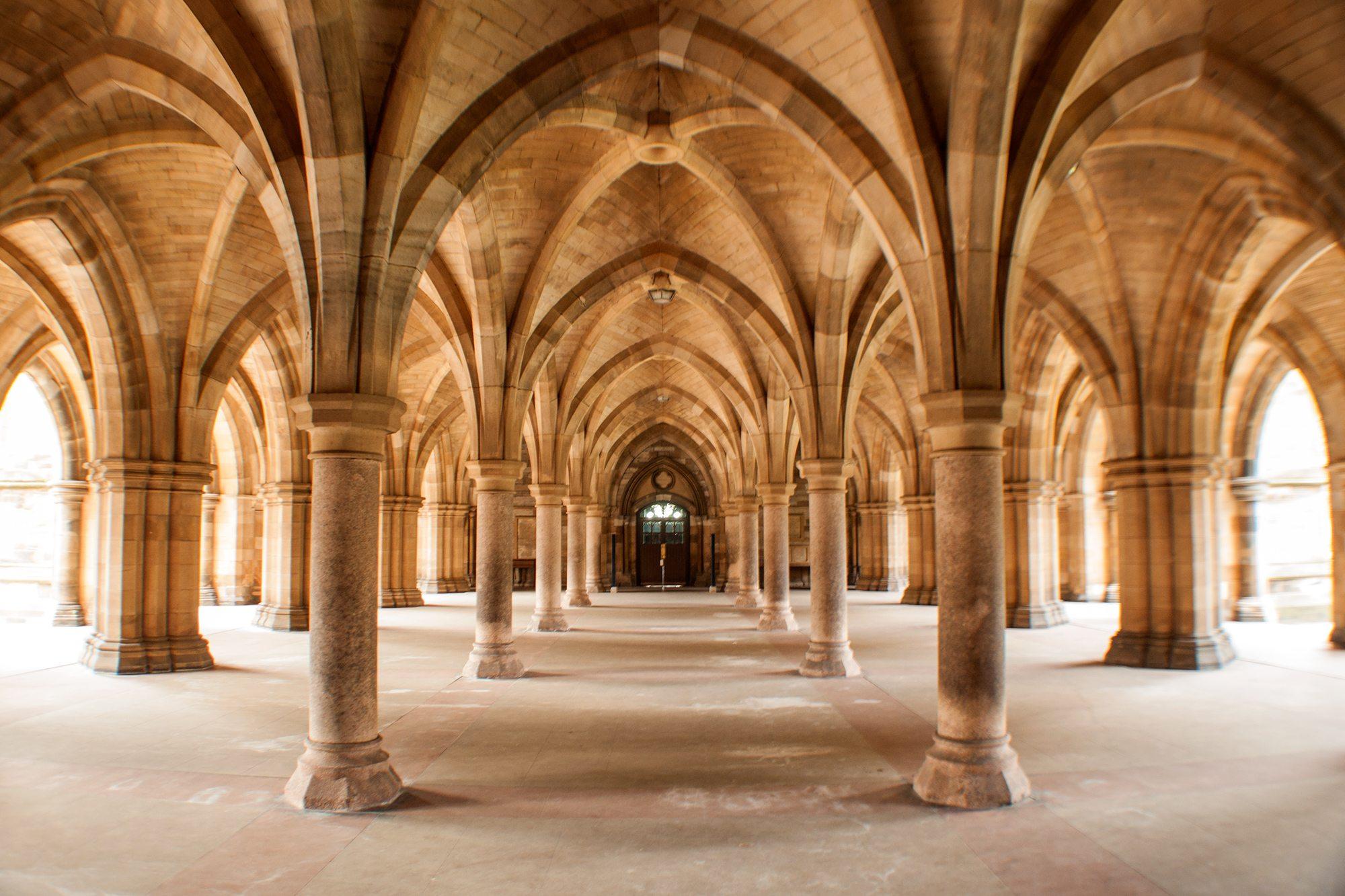 Univerzita Glasgow stĺpy