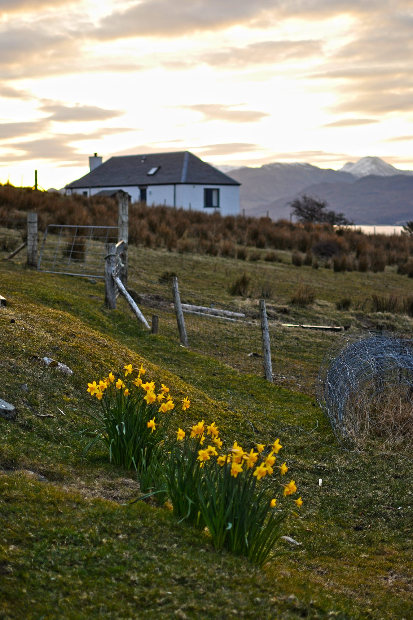 východ slnka Isle of Skye