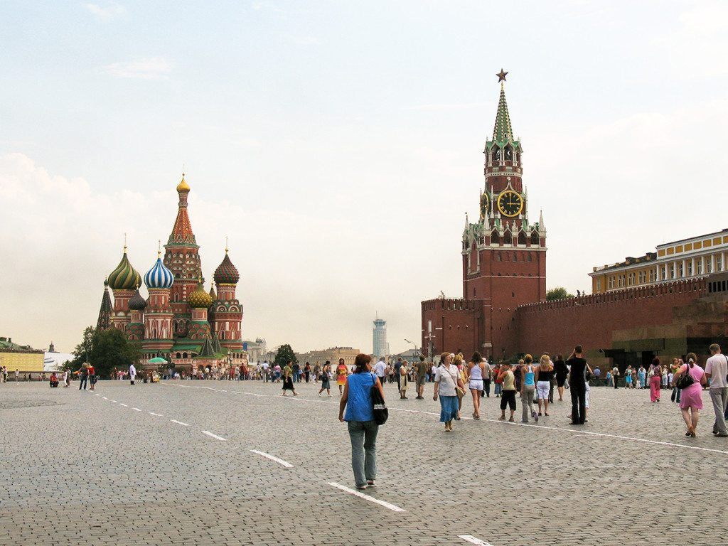 Rusko - Červené námestie v Moskve