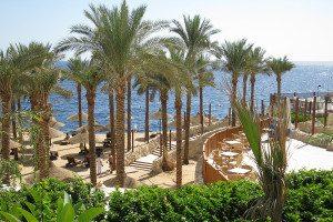 Egypt pláž a hotel