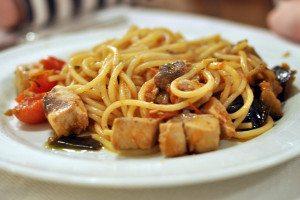 Sicílska kuchyňa - cestoviny s rybou
