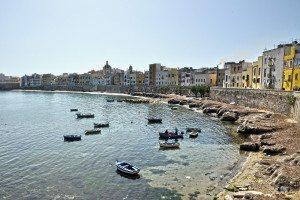 Trapani prístav pre rybárov