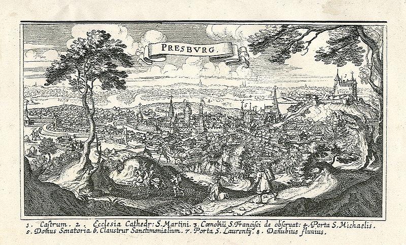 Bratislavsky hrad v 17. storočí