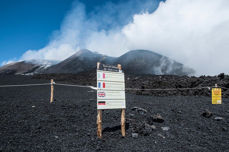 Etna - bezpečnostná zábrana