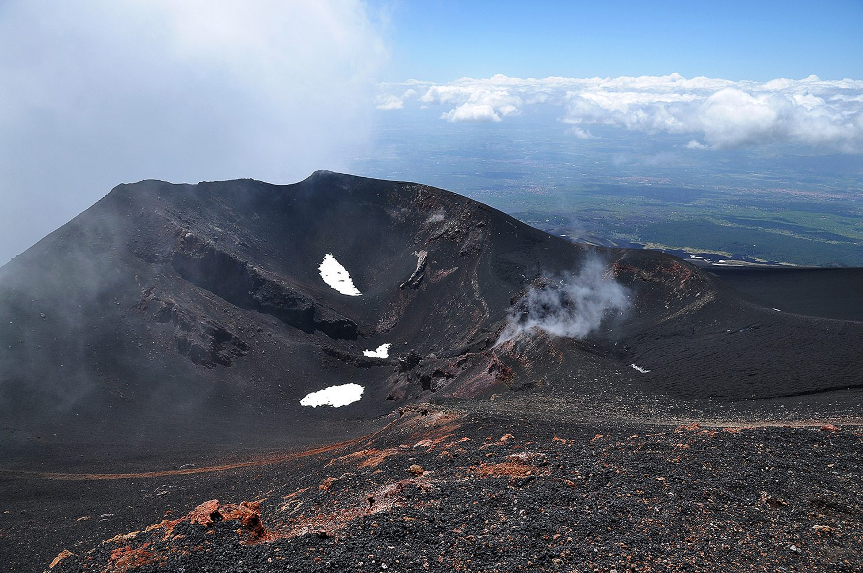 Etna - kráter konečná lanovky