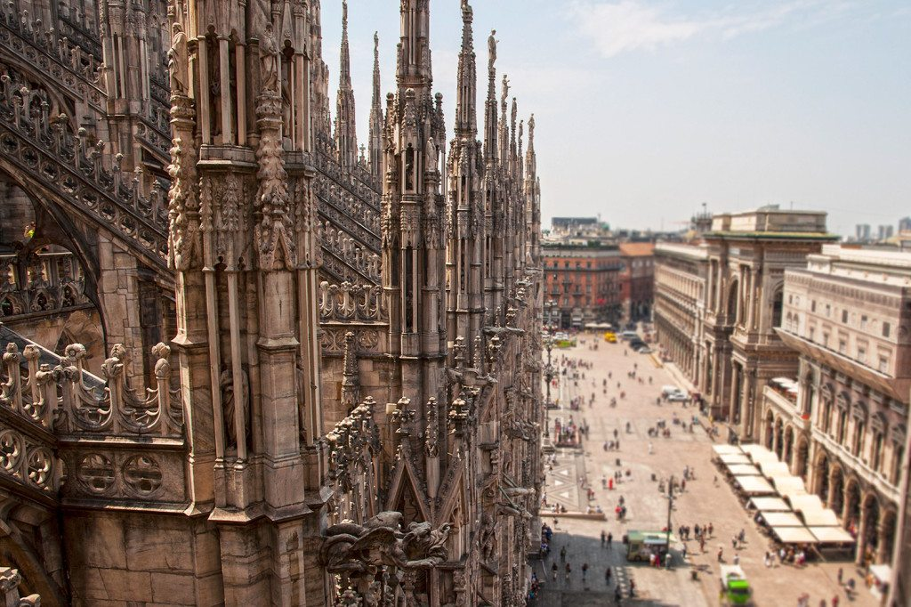 Miláno - duomo vežičky
