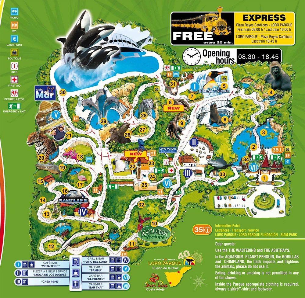mapa loro park