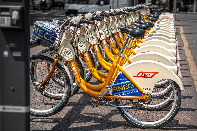 bicykle v Miláne