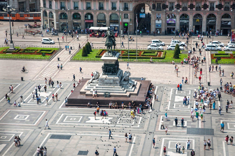 Miláno námestie Duomo
