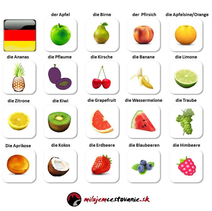 ovocie po nemecky