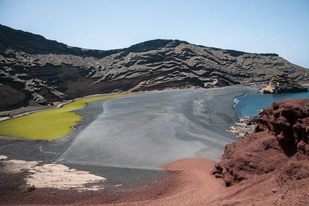 El Golfo - zelené jazero na Lanzarote