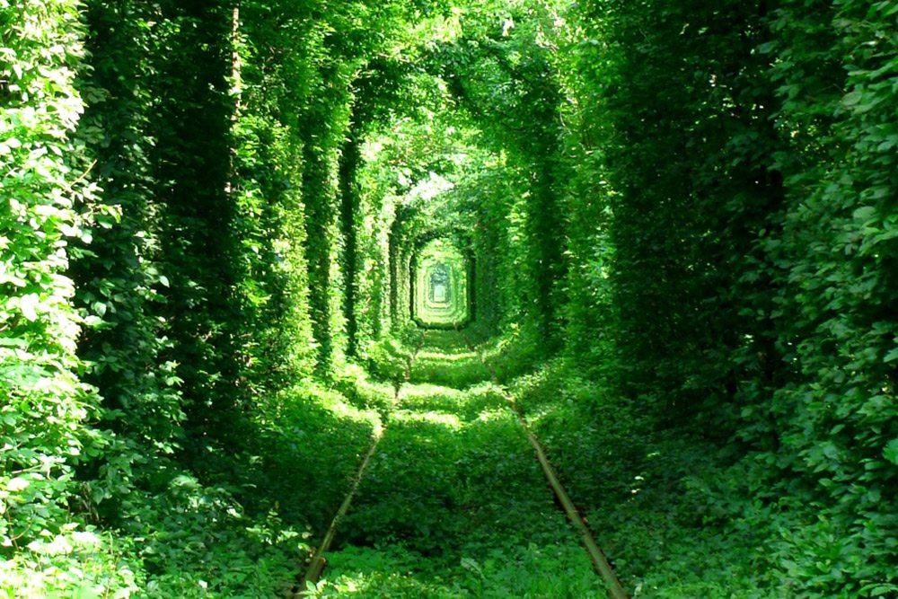 Najzaujímavejšie železnice - ukrajinský tunel lásky