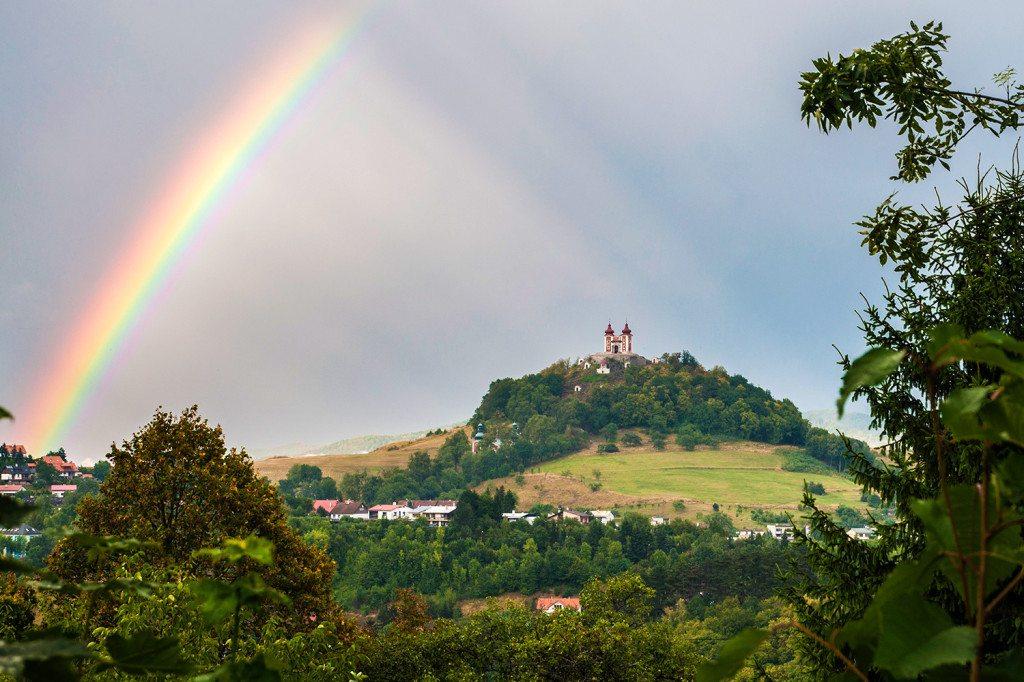 Banská Štiavnica - dúha nad Kalváriou