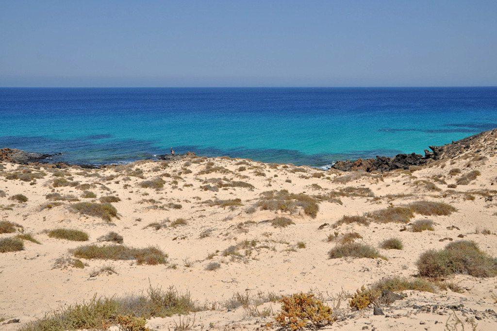 Pláže pri Coralejo, Fuerteventura
