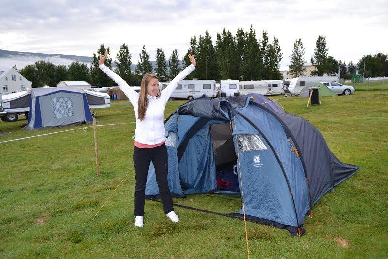 Akureyiri, camping - ubytovanie na Islande
