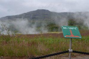 Geysir area Island