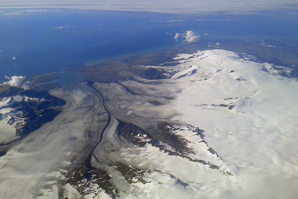 Island - letecký pohľad