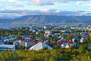 Island Reykjavik - Výhďad z Perlan