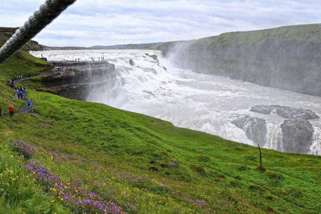 Island Vodopád Gulllfoss
