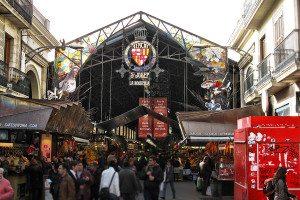 Barcelona - trh s jedlom la Boqueria
