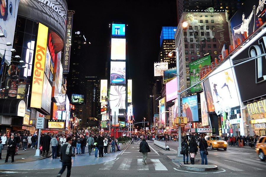 New York - reštaurácie a jedlo na timesquare