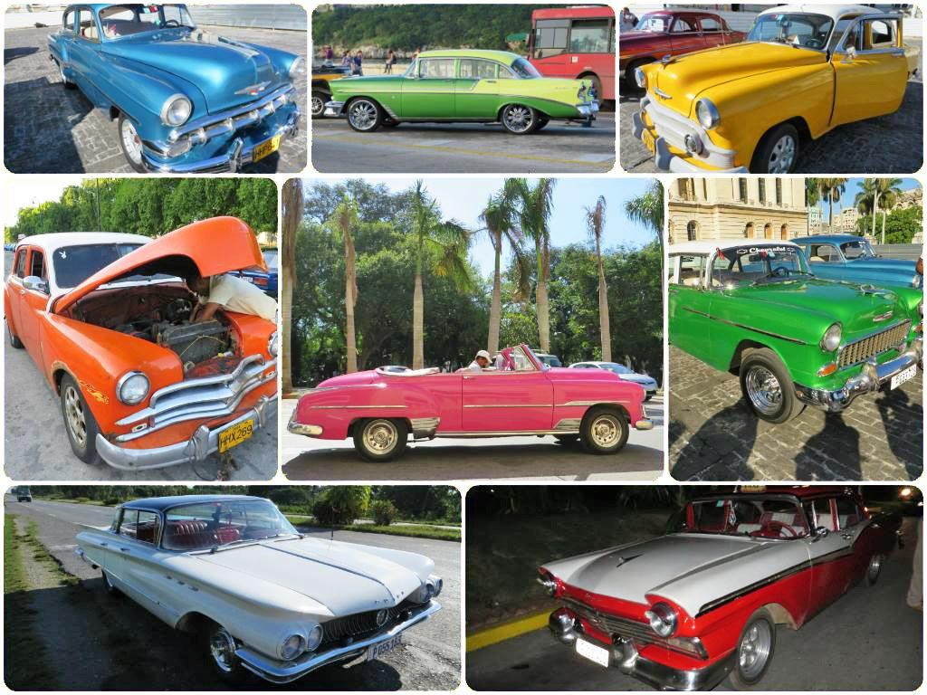 Kuba - farebné lentilkové autá